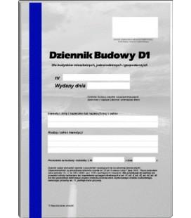 Dziennik budowy dla budynków mieszkalnych - D1