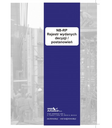 Rejestr wydanych decyzji / postanowień NB-RP
