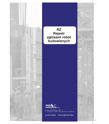 Rejestr zgłoszeń robót budowlanych na podst. art. 30 PB - RZ