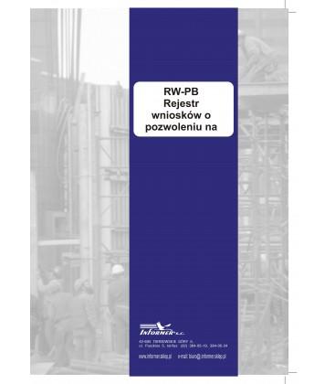 Rejestr wniosków o pozwoleniu na budowę RW-PB